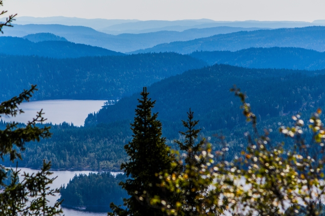 View from Kjerkeberget, Oslo municipality's highest point (629 m above sealevel)