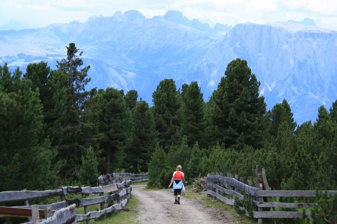 Mountain range near Oberbozen
