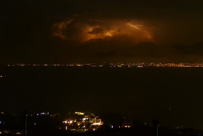 Thunder above Gulf of Naples